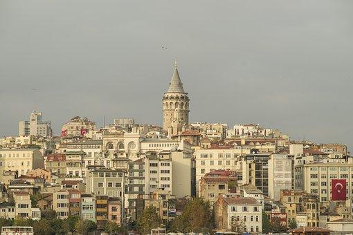 Galata Tower, City, Istanbul, Turkey, Architecture