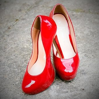Red, Shoes, Style, Fashion, Female, Footwear, Heel