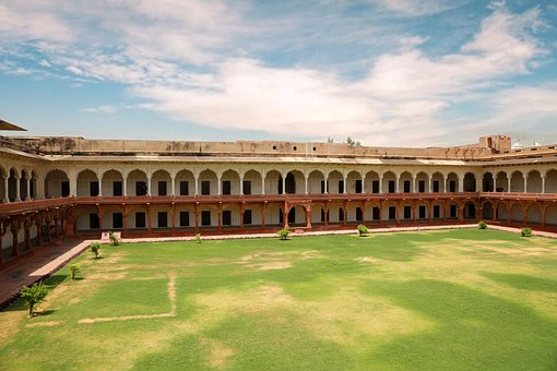 Agra, Fort, India, Architecture, Uttar, Mughal