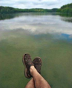 Lake, Legs, Sandals, Holidays, Shoes, Plans