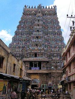 Minakshi, Temple, Madurai, Tamil Nadu, India, Asia