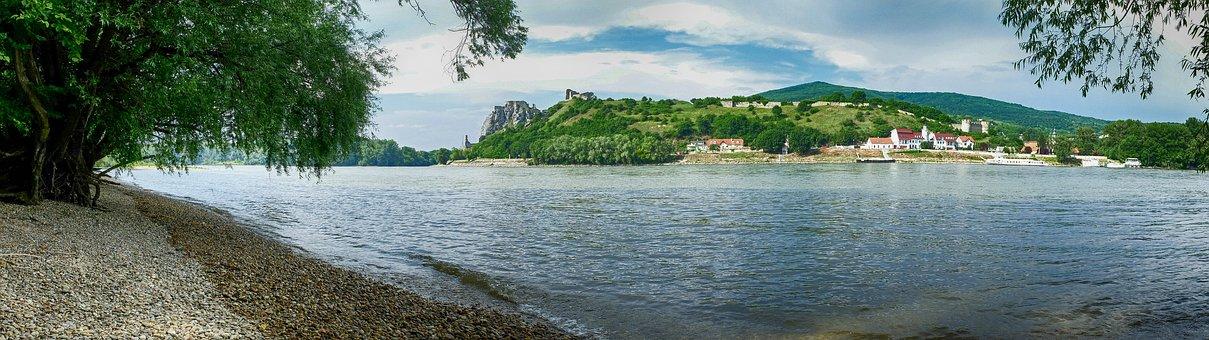 Devin, Austria, The Danube, Bratislava, Panorama