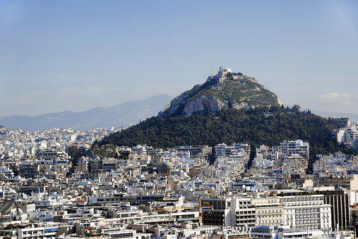 Athens, Landscape, Greece, Mount Lycabettus, Panorama