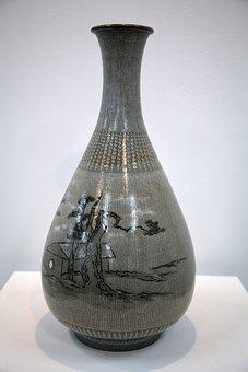 Porcelain, Water Bottle, Pottery, Craft, Exhibition
