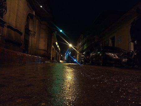 Night, Quetzaltenango, Rain, Xela
