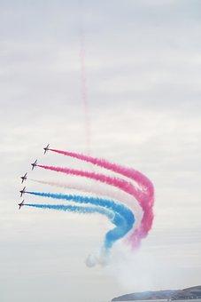 Red Arrows, Planes, Airshow, Airplane, Air, Aircraft
