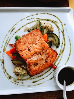 Salmon, Meal, Lafayete, Restaurant, Gastronomy