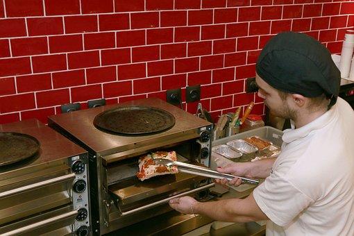 Pizza, Oven, Heat, Tweezers, Restaurant, Cook