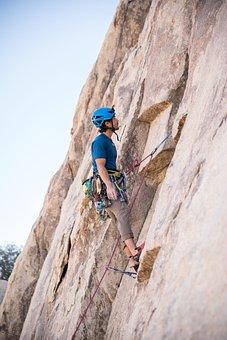 Man, Climbing, Rope
