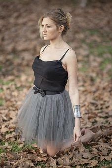 Ballerina, Model, Tutu, Skirt, Leg, Depression, Sadness