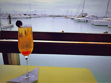 Drink, Olive, Porto, Yacht, Sailboat, Vista, Mar