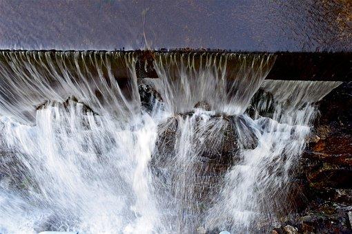 Waterfall, Spray, Water, Nature, Stream, White, Outdoor