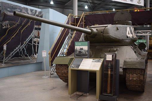 Tank, Russia, Soviet, T-34, War, Military, Army, Gun