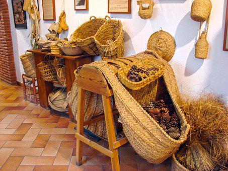 Tools Old, Pineapple, Basket, Wicker, Donkey