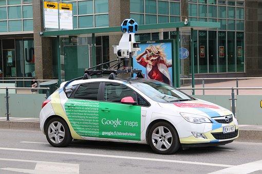 Google, View, Camera, Car, Vehicle, Street, Map