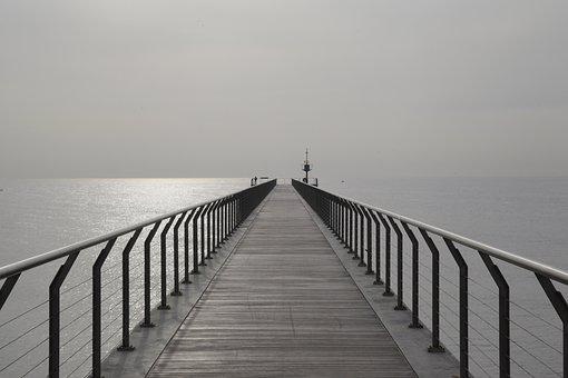 Spring, Badalona, Sea, Walk