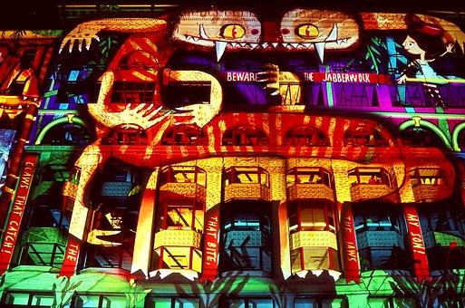 Melbourne, White Night, Flinders Street, Night