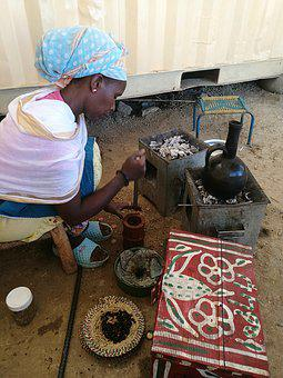 Africa, Eritrea, Woman, Traditions, Coffee