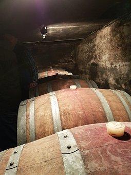 Wine Cellar, Wooden Barrels, Wine, Vessels, Barrel