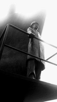 Antwerp, Statue, Belgium, Bronze Statue, Art, Port