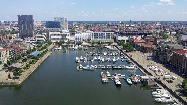 Antwerp, Marina, Dock, Boats, Ship, Holiday Cruise