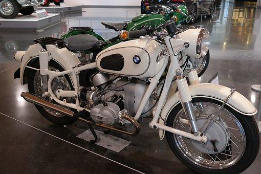 Bmw, Motorcycle, Moto, Retro