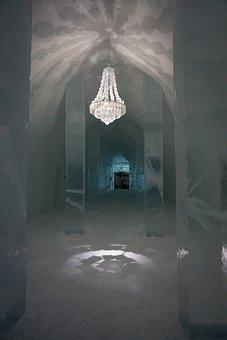 Icehotel, Sweden, Ice, Chandelier, Destination, Hotel