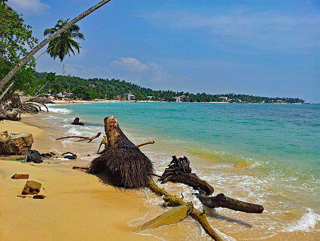 Unawatuna, Sri Lanka, Beach, Sand, Crystal Clear, Water