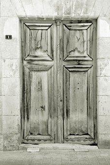 Alicante, Villajoyosa, People, Door, Spain, Summer
