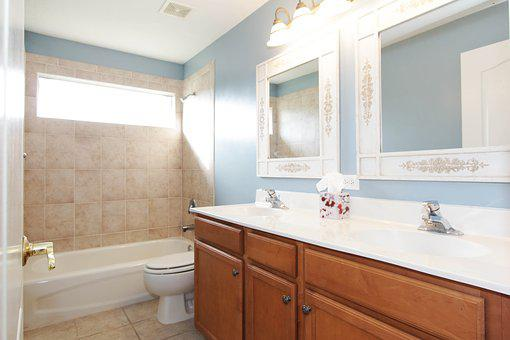 Bathroom, Dual Sinks, House, Interior, Mirror