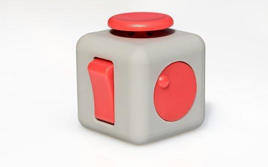 Fidget Cube, Vinyl Dice, Toys, Rotary Wheel