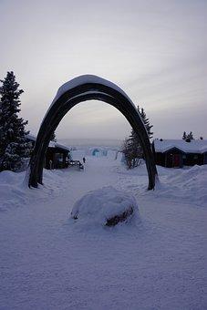 Icehotel, Sweden, North, Ice, Hotel, Blue, Frozen