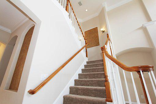 Staircase, Carpeted, House, Interior