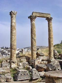 Jerash, Jordan, Ancient, Ruins, Historic, Site, Roman