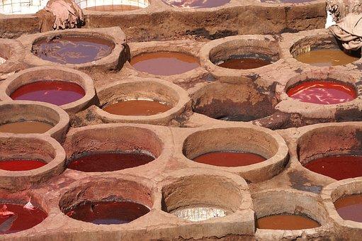 Leather, Paintbath, Marakkesh, Morocco