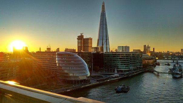 London, Sunset, River Thames, Abendstimmung