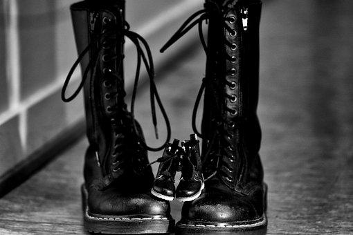Dr, Martens, Shoes, Tiny, Boots, Black, Footwear, Pair