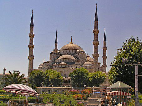 Sultan Ahmed Mosque, Istanbul, Turkey, Blue, Mosque
