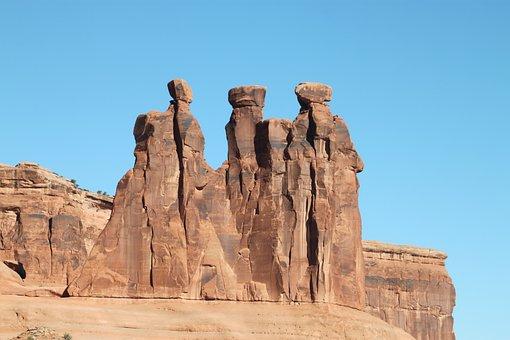 Three Ladies, Arches, Utah, National Park, Outdoors