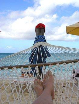 Beach, Hammock, Toes, Sand, Sea, Relax, Ocean, Holiday