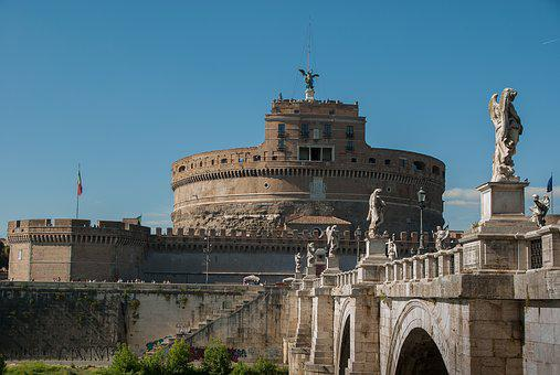 Rome, Castle Saint-angel, Fortification, Bridge