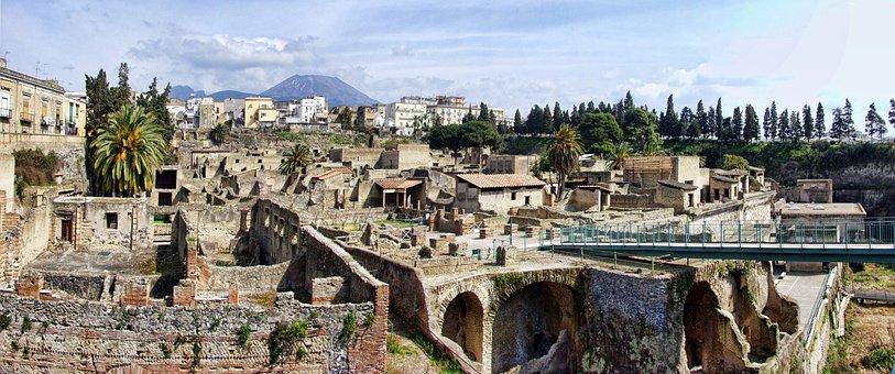Herculaneum, Italy, Archeology, History, Ancient, Ruin