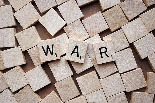 War, Battle, Letters, Scrabble, Combat