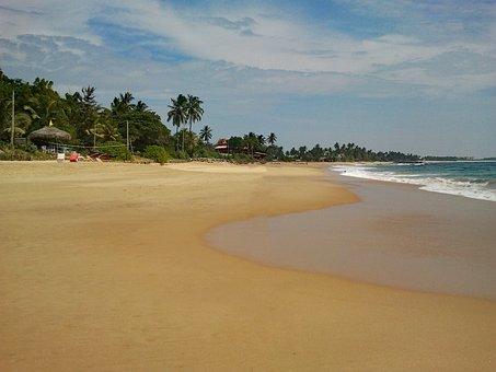 Hikkaduwa, Sri Lanka, Beach, Sand, Crystal Clear, Water