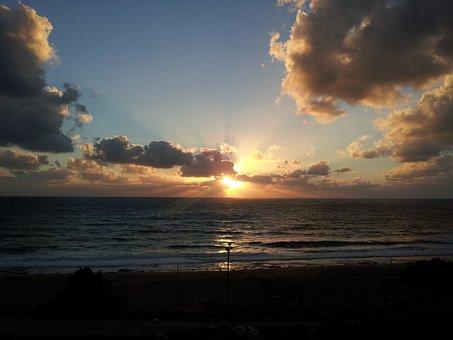 Clouds, Sunset, Sunrise, Landscape, Sunlight