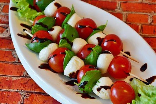 Tomato Mozzarella, Cocktailtomaten, Mozarella, Snack