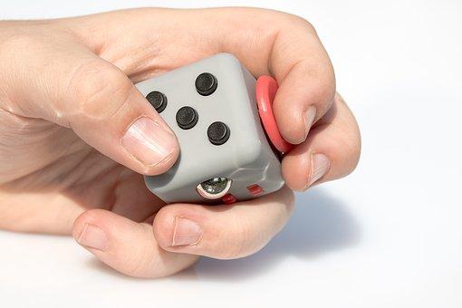 Fidget Cube, Vinyl Dice, Toys, Five Buttons