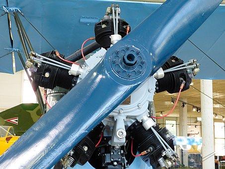 Flying, Propeller, Engine, Flight, Antique