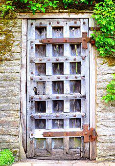 Wall, Door, Wood, Entrance, Architecture, Old, Secret