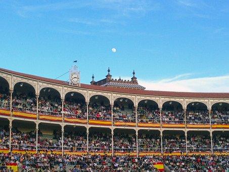 Bullring, Moon, Spanish Flag, Clock